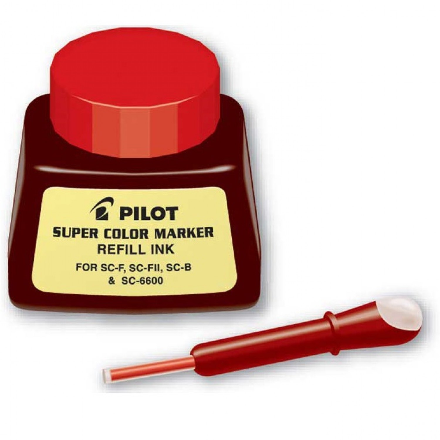 Pilot SC-RF Refill Ink for Permanent Markers, Red