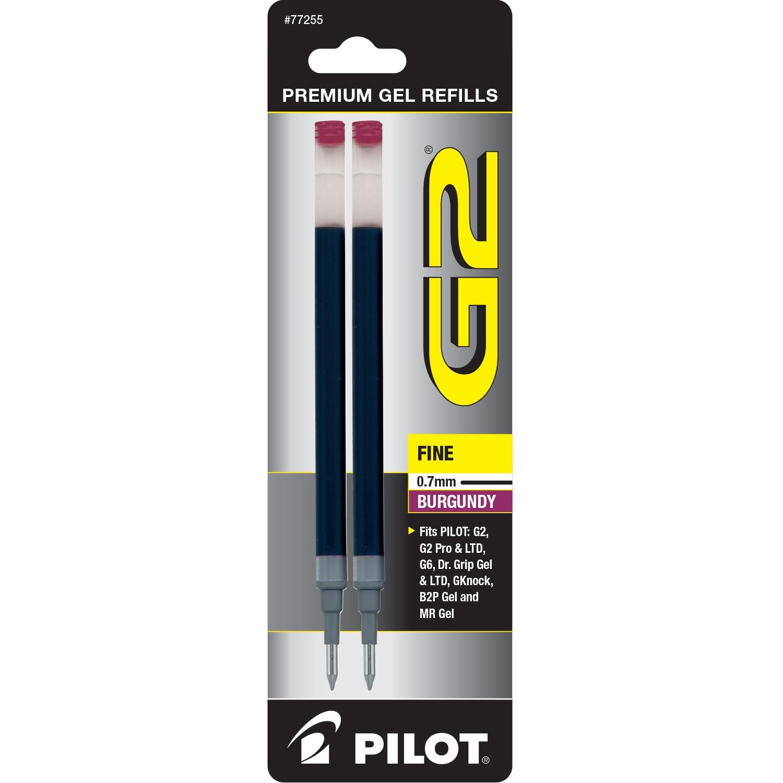 Pilot BG27R G2 Gel Ink Refills, Fine, Burgundy