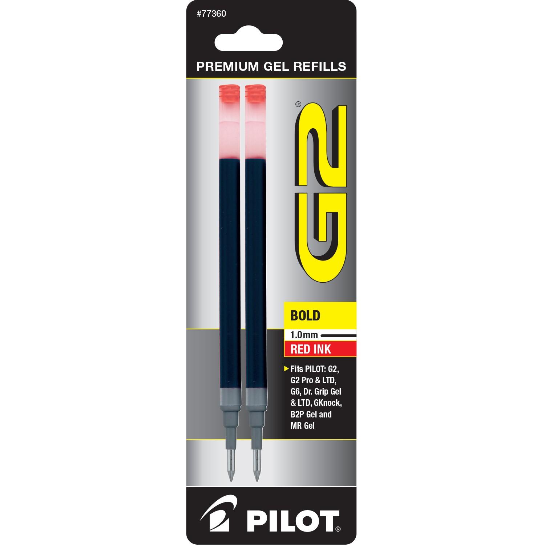 Pilot BG21R G2 Gel Ink Refills, Bold, Red