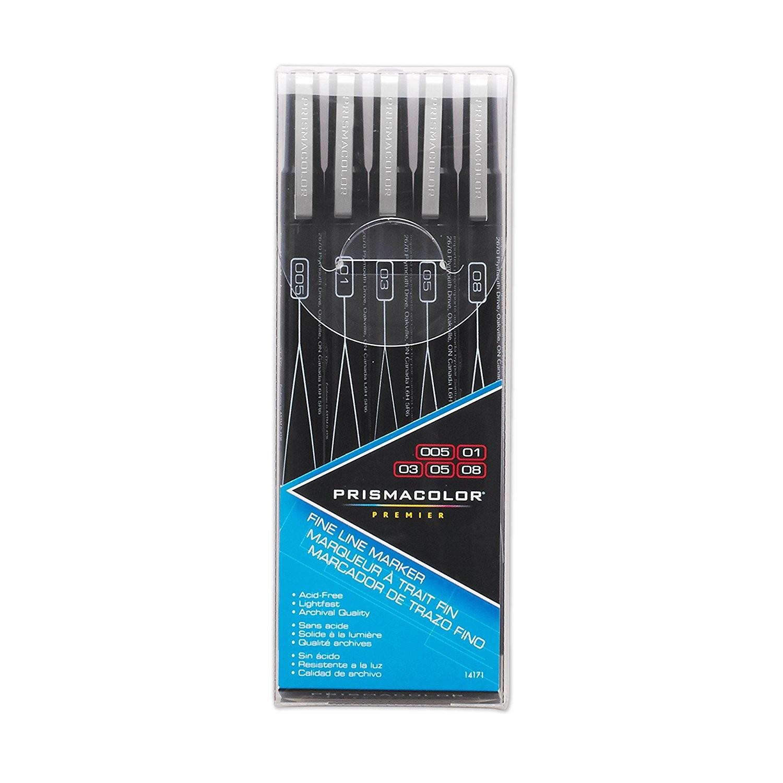 PrismaColor Premier Fine Line Marker 5CT Set BL