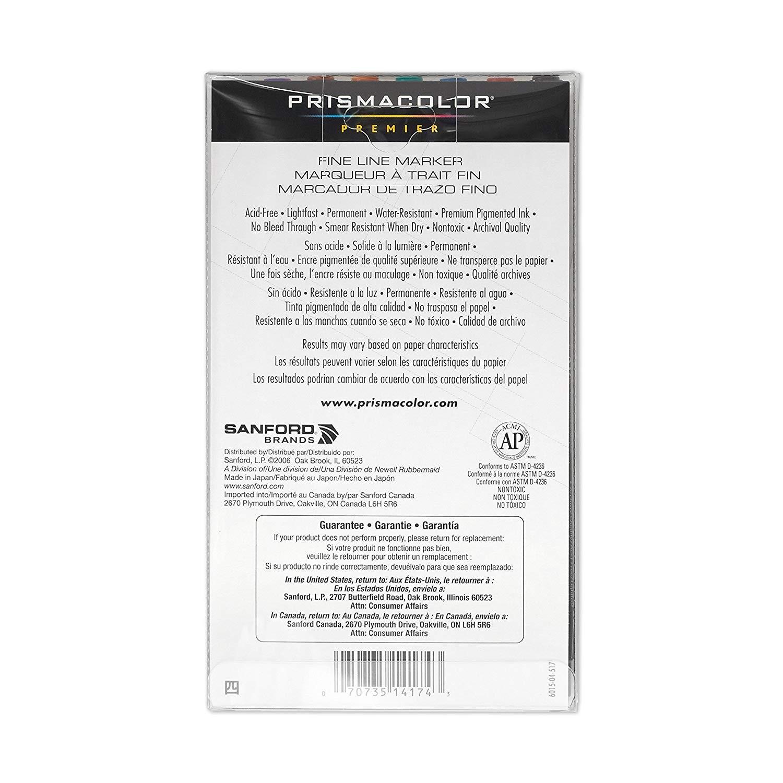 PrismaColor Premier Fine Line Marker 8CT Set 0.5