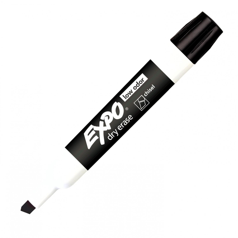 Expo 2 Low Odor Dry Erase Marker, Chisel Tip, Black