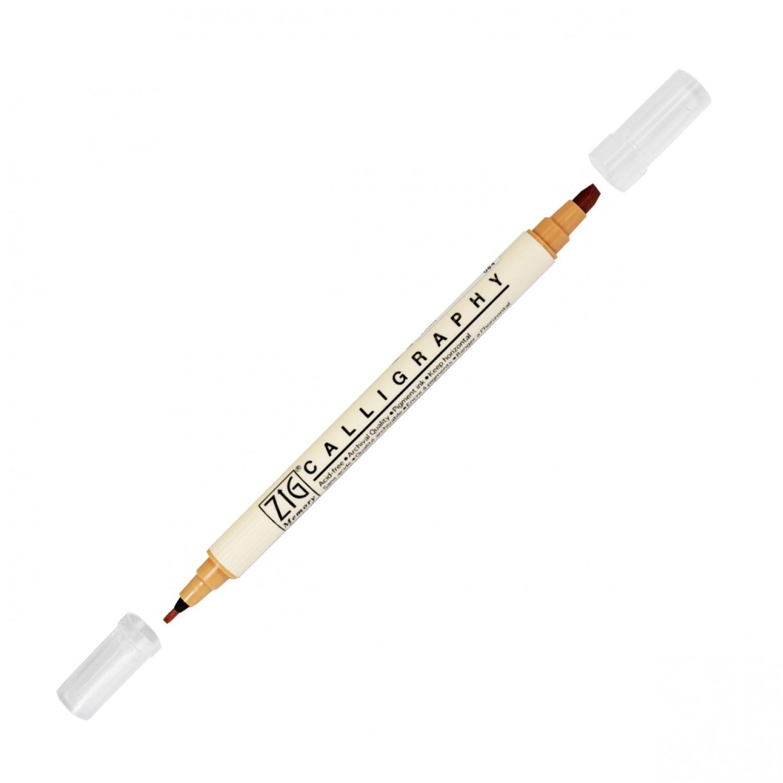 Zig Double Calligraphy Pen, Fawn
